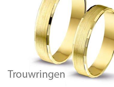 Geelgouden trouwringen'