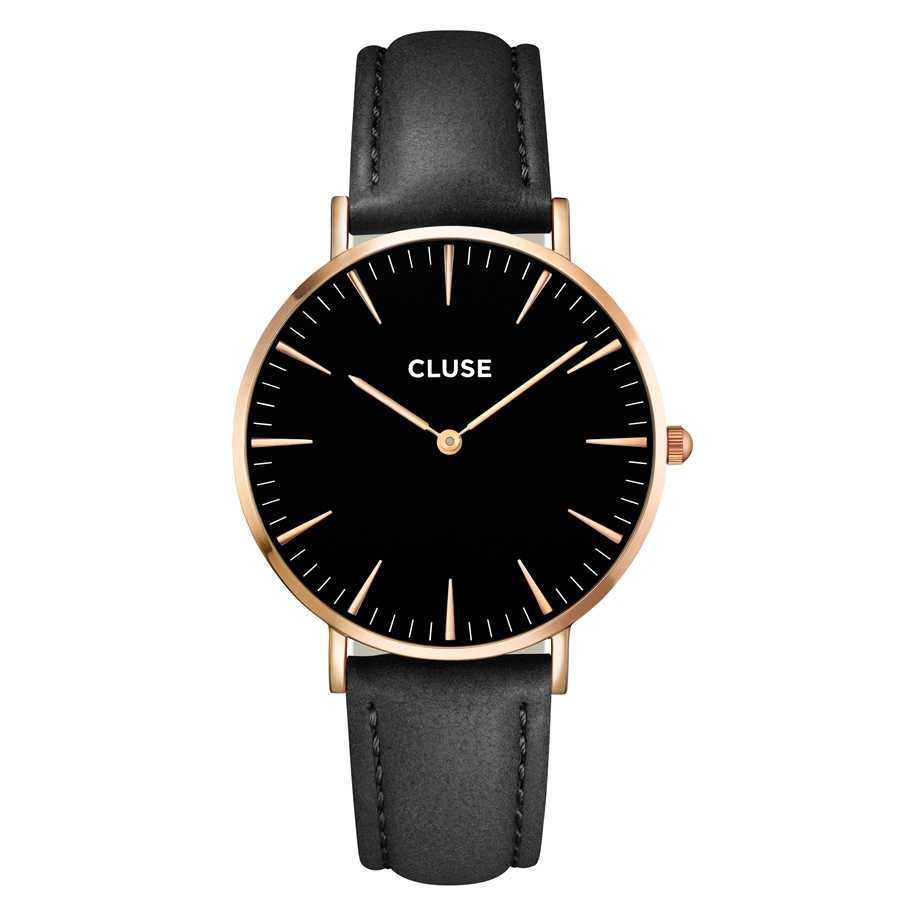 Afbeelding van CLUSE La Boheme Rosegoudkleurig/Zwart 38mm Horloge CL18001