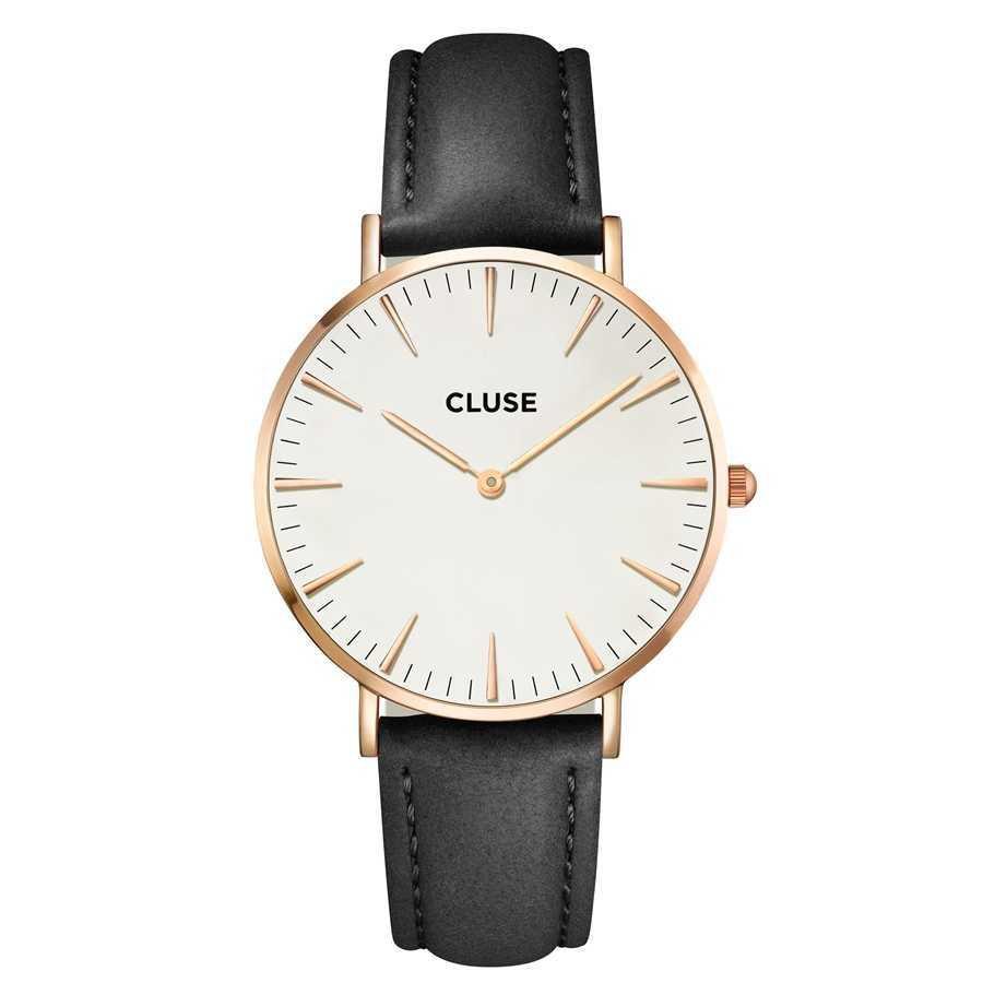 Afbeelding van CLUSE La Boheme Rosegoudkleurig White/Black 38mm Horloge CL18008