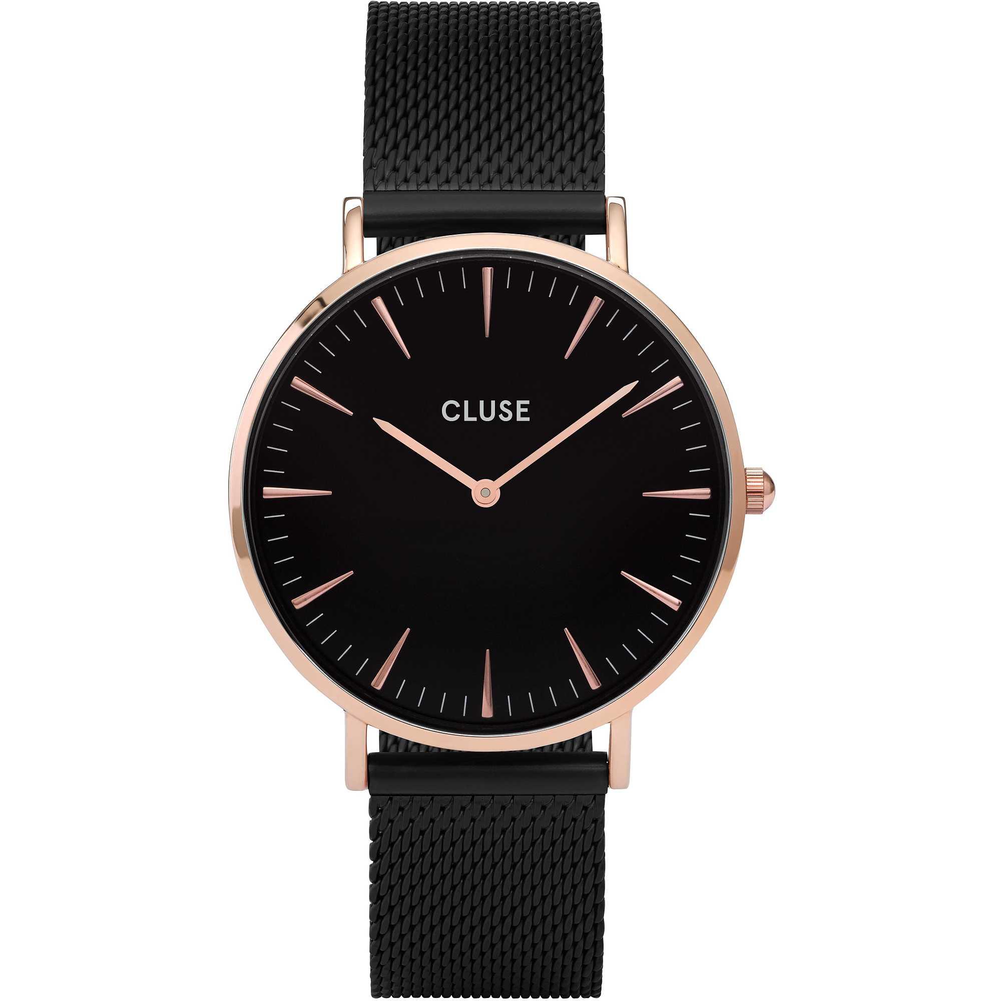 Afbeelding van CLUSE La Bohème Mesh Rosegoudkleurig 38 mm Horloge CL18034