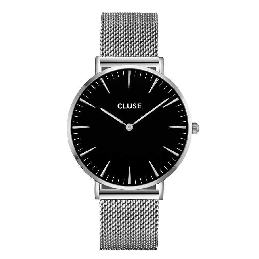 Afbeelding van CLUSE La Boheme Mesh Zilverkleurig/Zwart 38mm Horloge CL18106