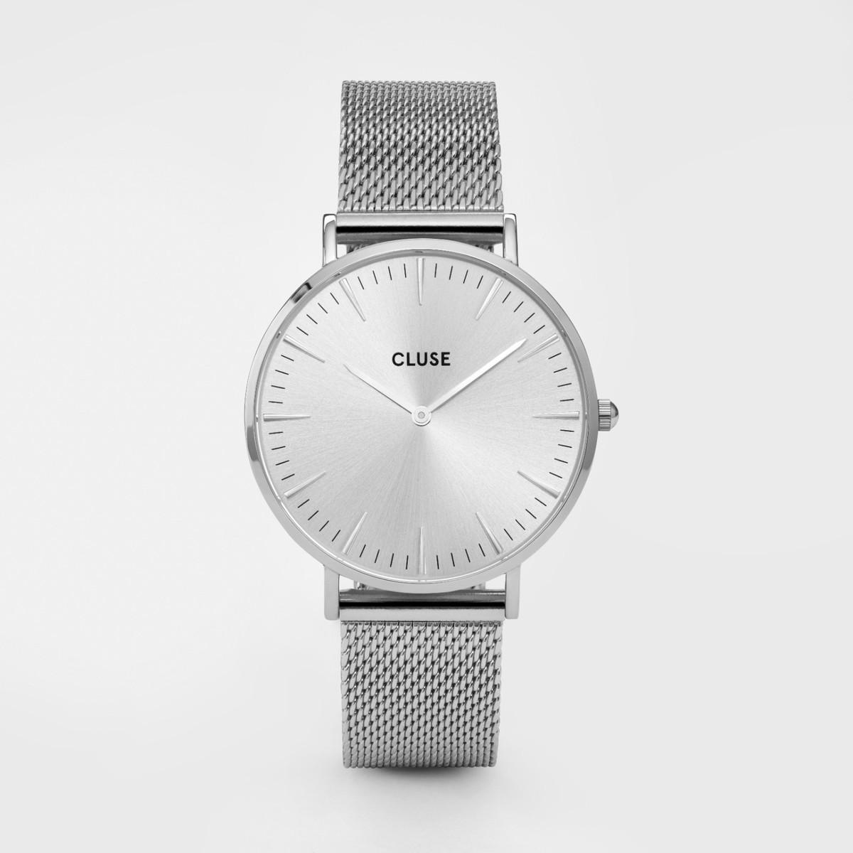 Afbeelding van CLUSE La Boheme Mesh Full Zilverkleurig 38mm Horloge CL18114