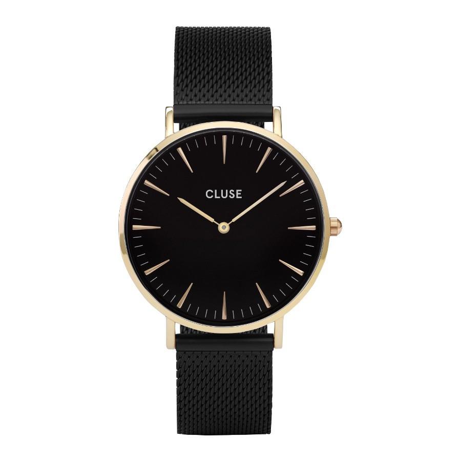Afbeelding van CLUSE La Boheme Mesh Goudkleurig 38mm Horloge CL18117