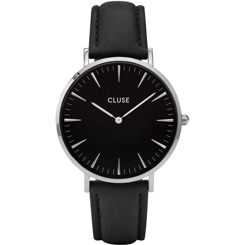 Afbeelding van CLUSE La Bohème Silver Black / horloge CL18201 dameshorloge Zwart