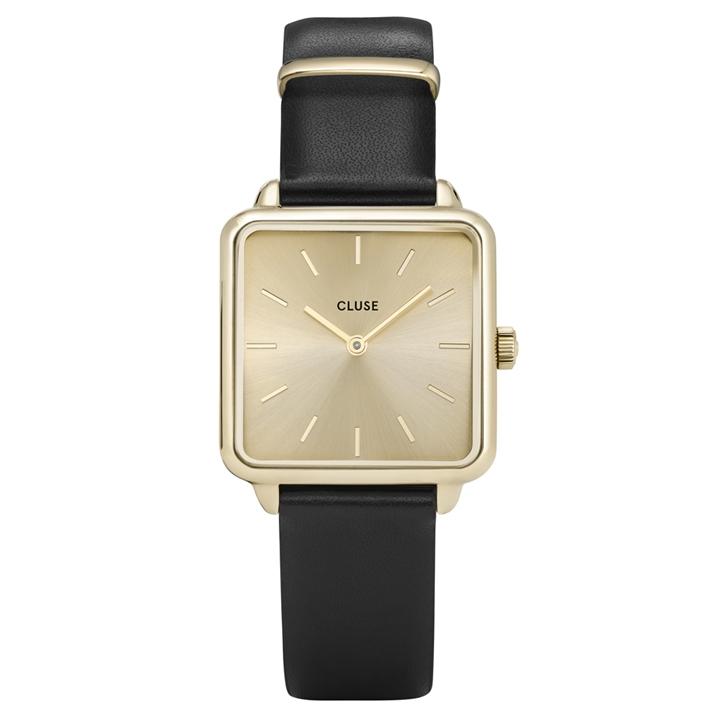Afbeelding van CLUSE La Tétragone Goudkleurige/Black horloge CL60004