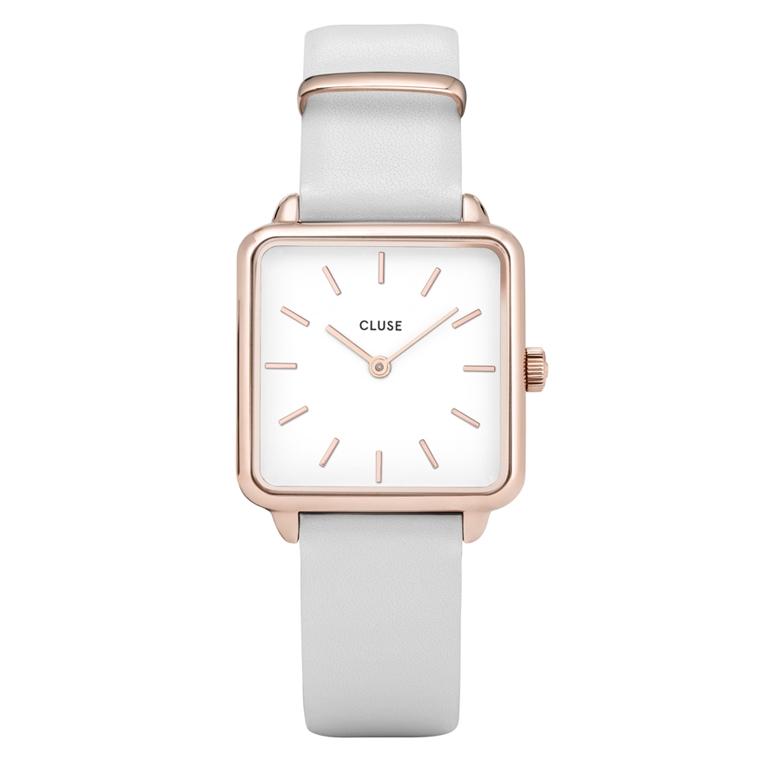 Afbeelding van CLUSE La Garçonne Rose Gold White/White CL60006 dameshorloge horloge Rosekleur