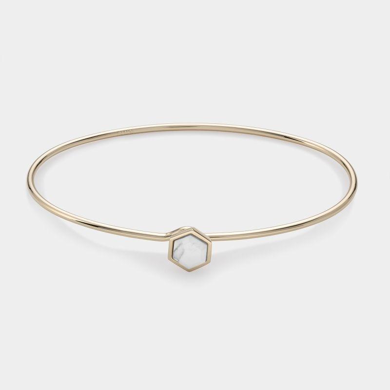 Afbeelding van CLUSE Idylle Goudkleurige Marble Hexagon Armband CLJ11002