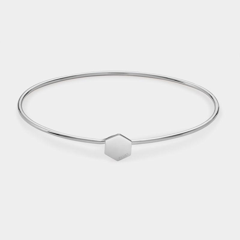 Afbeelding van CLUSE Essentielle Zilverkleurig Hexagon Armband CLJ12001