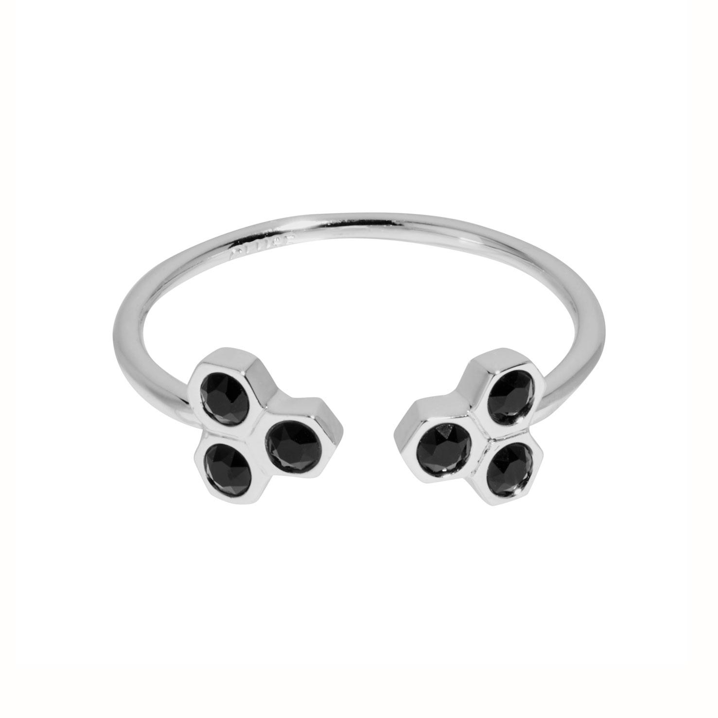 Afbeelding van CLUSE Essentielle Black Crystal Hexagons Ring CLJ42008 52 (Maat: 52)