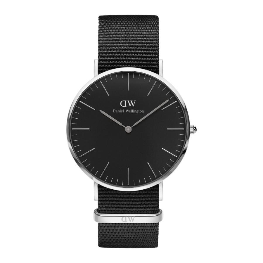 Afbeelding van Daniel Wellington Classic Black Cornwall horloge (40 MM) DW00100149 herenhorloge Zilverkleur