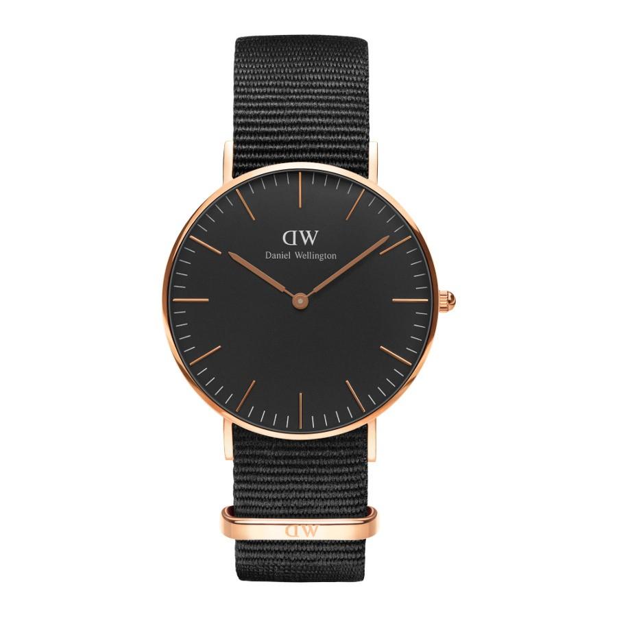 Afbeelding van Daniel Wellington Classic Black Cornwall horloge (36 MM) DW00100150 herenhorloge