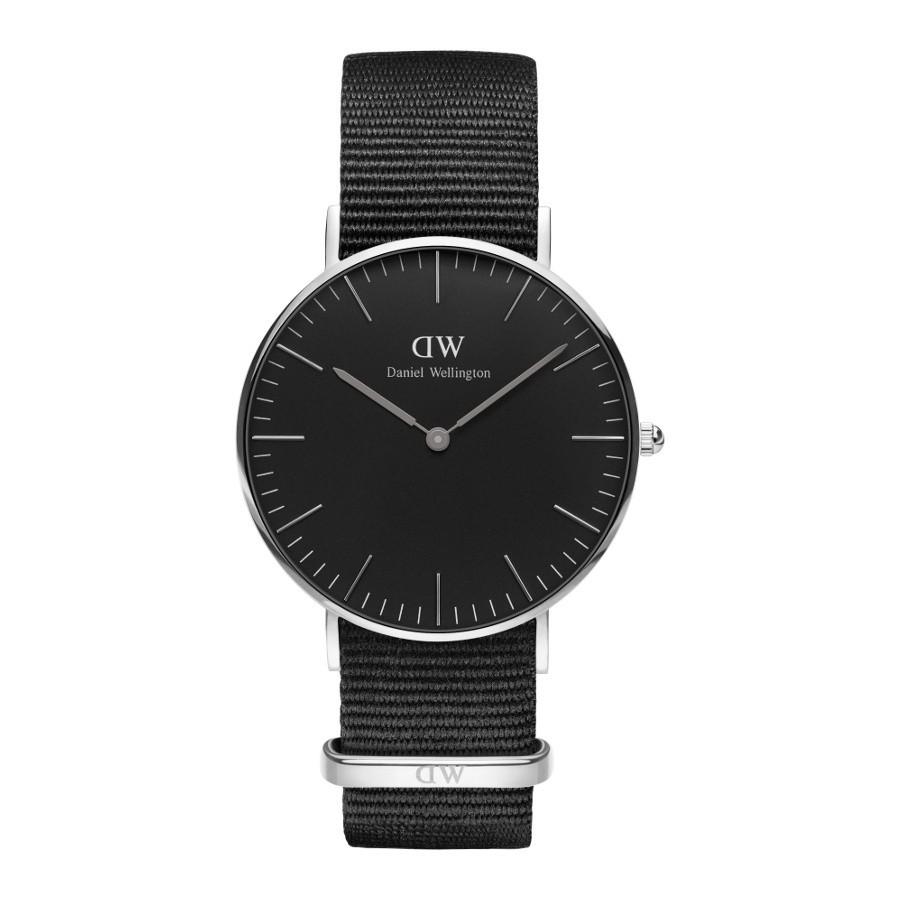 Afbeelding van Daniel Wellington Classic Black Cornwall horloge (36 MM) DW00100151 herenhorloge Zilverkleur