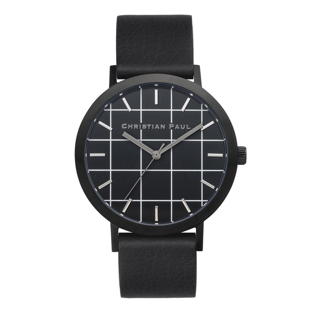 Afbeelding van Christian Paul The Strand Grid 43 MM Black / horloge