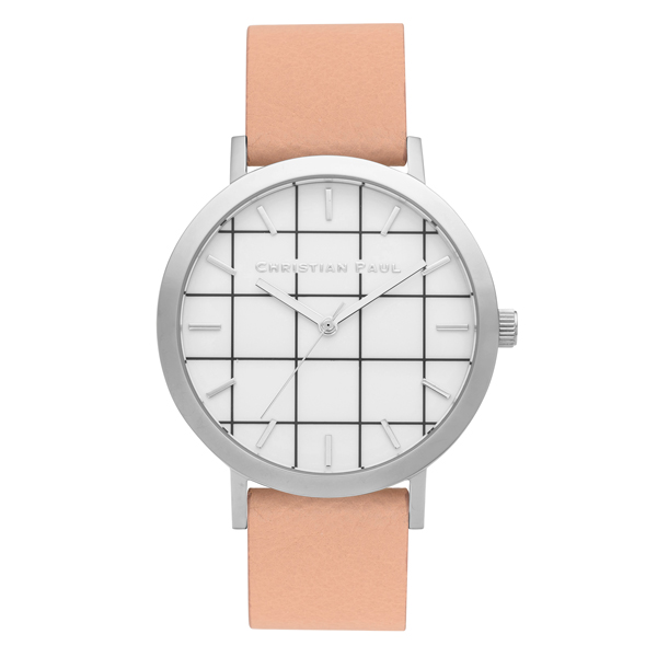 Afbeelding van Christian Paul Airlie Grid 43 MM Silver / Nude horloge