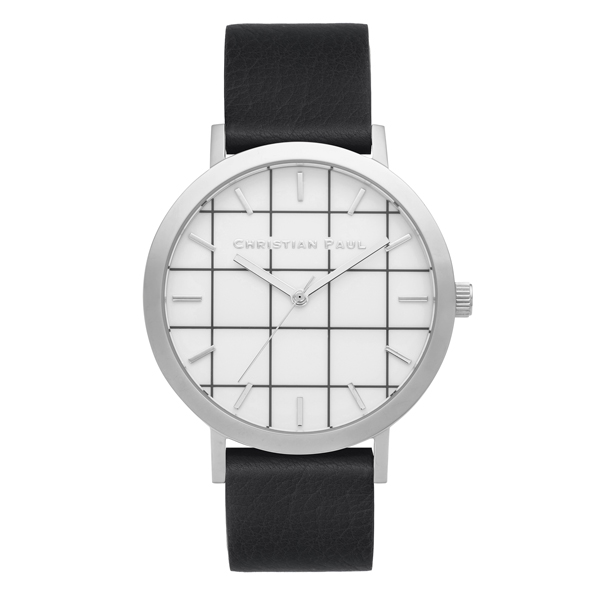 Christian Paul - Elwood Grid 43 MM - Silver - Black