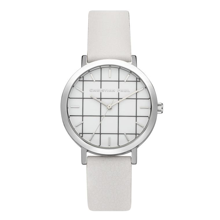 Afbeelding van Christian Paul Hayman Grid 35 MM Silver / White horloge
