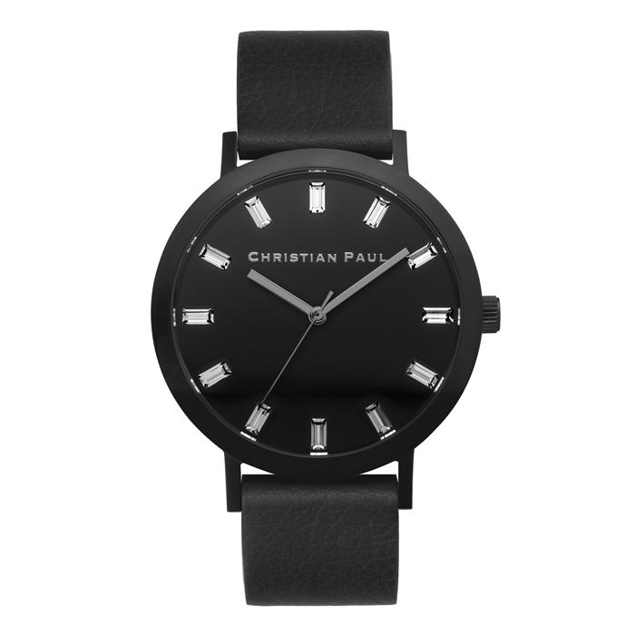 Afbeelding van Christian Paul The Strand Luxe 43 MM Black / horloge