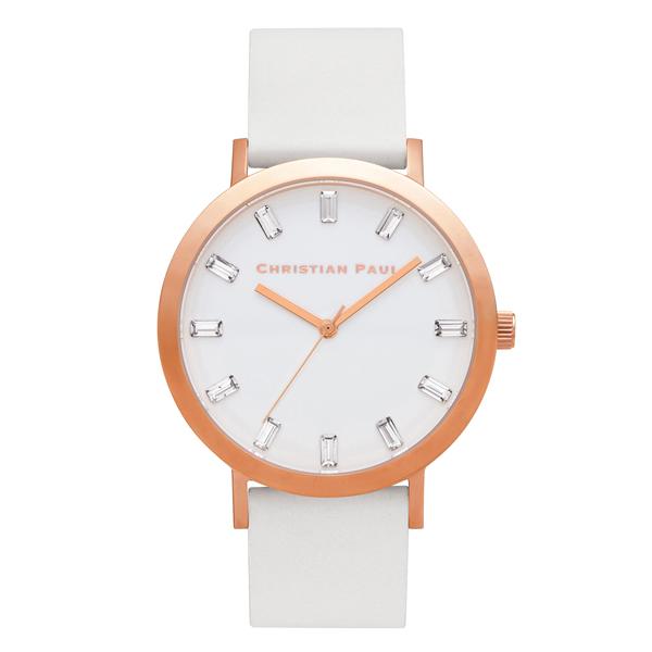 Afbeelding van Christian Paul Whitehaven Luxe 43 MM Rosé Gold / White horloge