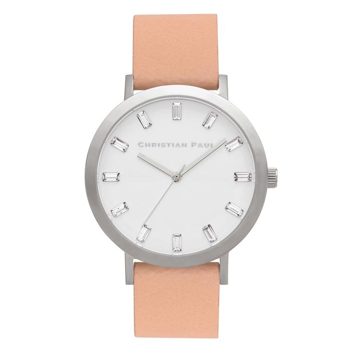Afbeelding van Christian Paul Airlie Luxe 43 MM Silver / Nude horloge