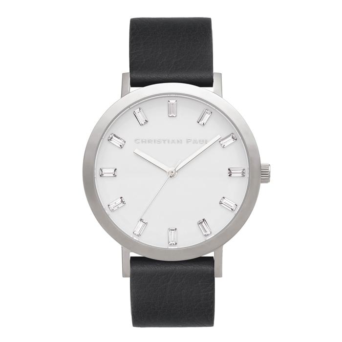 Afbeelding van Christian Paul Elwood Luxe 43 MM Silver / Black horloge