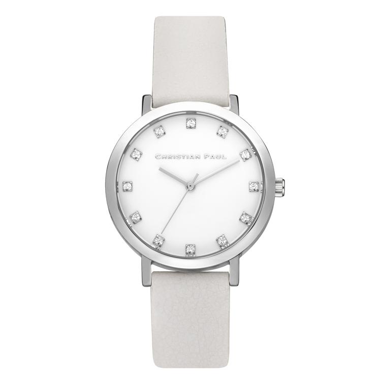 Afbeelding van Christian Paul Hayman Luxe 35 MM Silver / White horloge