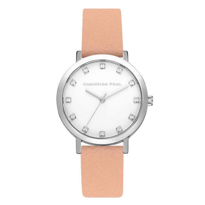 Afbeelding van Christian Paul Airlie Luxe 35 MM Silver / Nude horloge