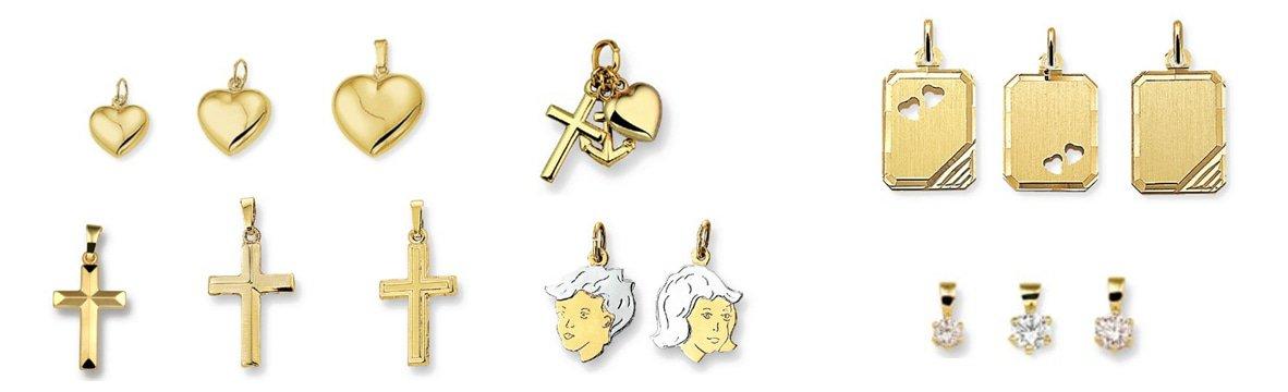 14 karaat gouden hangers en bedels