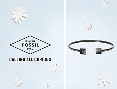 Fossil oorbellen
